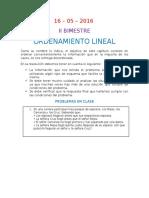 Ordenamineto Lineal 2016