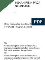 03 Pemeriksaan Fisik Neonatus - Dr. Mar