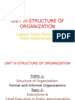 Unit III-structure of Organization