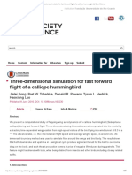 Three-dimensional Simulation for Fast Forward Flight of a Calliope Hummingbird _ Open Science