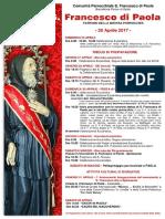 Festa Di San Francesco Di Paola 2017