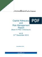 Samba Capital Adequacy Risk Management Report 31 Dec 2013