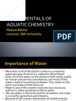 Fundamentals of Aquatic Chemistry