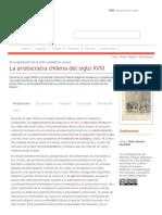 La Aristocracia Chilena Del Siglo XVIII - Memoria Chilena, Biblioteca Nacional de Chile