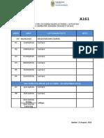 2. Academic Calendar A161