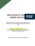 26. the Book of Job as a Greek Tragedy. Tnr 12