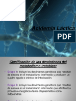 Acidemia Láctica, Teórico QBP 2016