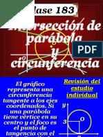 interseccion de parabolas