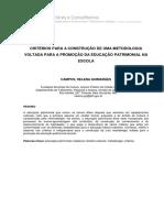Critérios Metodológicos Para Educação Patrimonial