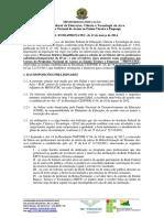 Edital Docentes Urbanos Pronatec 2014