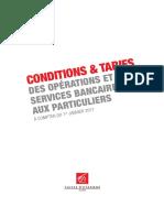 Tarification Caisse Epargne 2017
