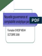 ENSP MEAH Nouvelle Gouvernance Et Comptabilit Analytique Par p Les V12 OCTOBRE 2008ppt
