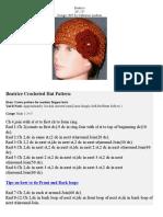 Crochet - Beatrice Hat