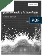 Física Para La Ciencia y La Tecnología Mecánica, Oscilaciones y Ondas, Termodinámica Paul A. Tipler (Editorial Reverté) 4ta Edición Volumen 1