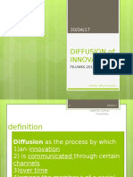 Diffusion of Innovation 1