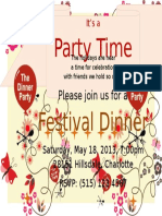 Festival Dinner Invitation