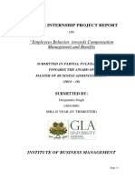 Internship Report (HR Management)- Deependra Singh