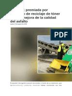 Lexmark Premiada Por Proyecto de Reciclaje de Tóner Para La Mejora de La Calidad Del Asfalto