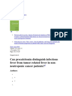 Procalcitonin in Cancer Fever