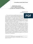 Individuation Et Pouvoir Politique Une Lecture de Foucault Et d'Elias