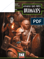 Advanced Race Codex Humans