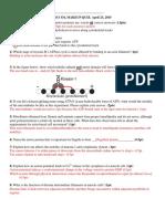 Cell Bio Quiz 6 2015