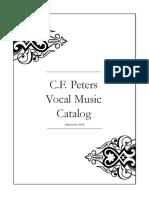 Vocal Catalog 2009
