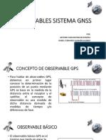 Observables Sistema Gnss