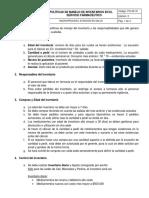 PO-SF-01 Politicas de Manejo de Inventario