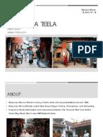 Majnu-ka-Teela - Street Study - Urban Typology