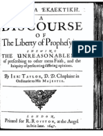 A Discourse of the Liberty of Prophesying
