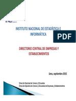 Directorio Central de Empresas y Establecimientos Inei 2015