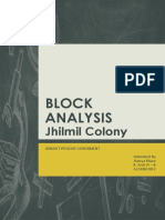 Jhilmil Colony - Block Analysis - Urban Study