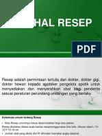PERIHAL RESEP