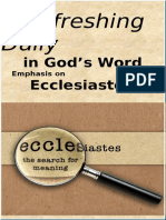 Emphasis on Ecclesiastes May 2017