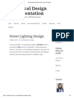 Calculate No of Street Light Poles _ Electrical Notes