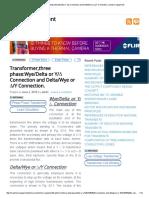 Transformer,three phase_Wye_Delta or Y_∆ Connection and Delta_Wye or ∆_Y Connection