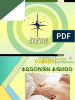 Cirugia 4 - Abdomen Agudo Medico