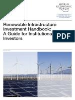 WEF Renewable Infrastructure Investment Handbook