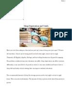 reseach sleep essay