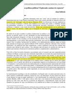 Nuevos Tiempos. Nuevas Políticas Públicas. Explorando Caminos de Propuestas. JOAN SUBIRATS -CONFERENCIA INTERNACIONAL 2012