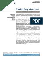 Ecuador haciendo lo que se debe
