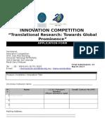 Innovation Competition Form 2017_Discover UTP_v2