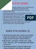 Kode Etik Dosen