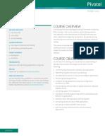 Pivotal EDU CoreSpring4.2.a Datasheet
