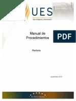 Manual de Procedimientos de la Universidad Estatal de Sonora (UES) 2014.pdf