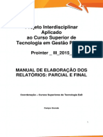 Prointer III 2015 1 Online TGP Manual de Elaboracao