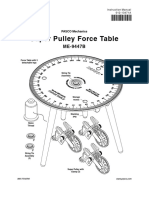Super Pulley Force Table Manual ME 9447B