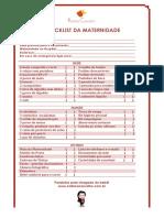 Checklist Da Maternidade Kalinka