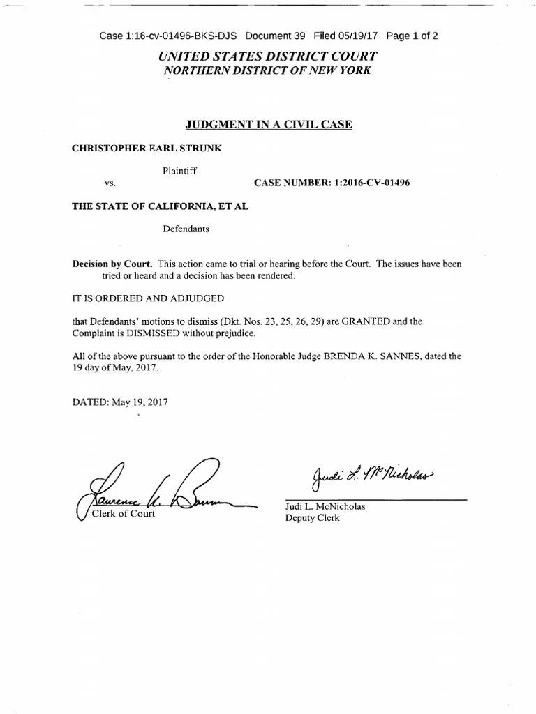 Judge wants an Amended Complaint in re CES Response w Exhibits to ...